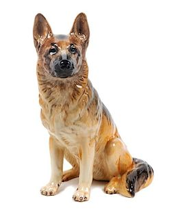 * A Large Beswick Porcelain German Shepherd Height 14 inches.