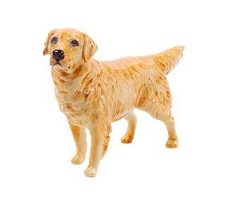 * A Beswick Porcelain Golden Retriever Width 8 1/4 inches.