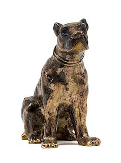 * A German Silver Mastiff Figure, J.D. Schleissner Sohne, Hanau,