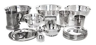 * Thirteen American Silver Mastiff Trophy Articles, Various Makers including Reed & Barton and Gorham Mfg. Co., together with ni