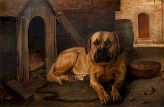 * A Painting of a Mastiff 23 1/2 x 35 1/2 inches.