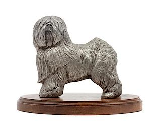 * A Pewter Old English Sheepdog Width of base 7 3/8 inches.