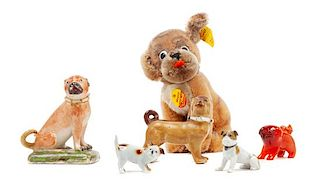 * A Group of Six Pug Figures Height of tallest 5 1/2 inches.