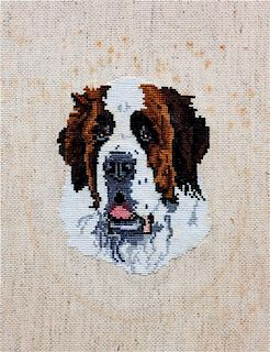 * Two Works of Art depicting Saint Bernards Larger: 13 x 19 inches.