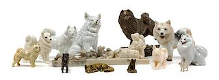 * A Group of Thirteen Samoyed Figures Width of widest 9 1/8 inches.