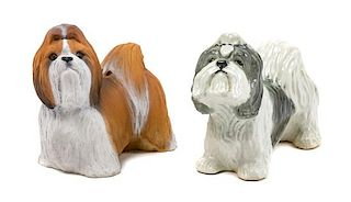 * Two Shih Tzu Figures Width of wider 5 1/4 inches.