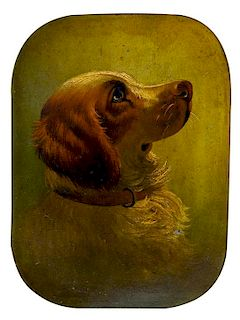 * Two Paintings depicting Spaniels Larger: 19 3/4 x 29 1/4 inches.
