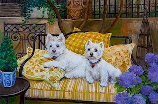 * A Giclee Print depicting West Highland Terriers Image: 12 x 18 inches.