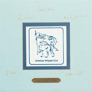 * An American Whippet Club Tile Each frame: 11 1/8 x 11 1/8 inches.