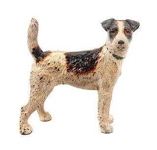 * A Cast Iron Wire Fox Terrier Doorstop Height 8 3/4 inches.