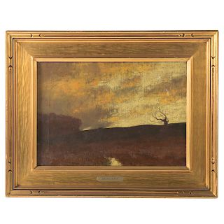 "Bruce Crane. ""Windy Sunset"""