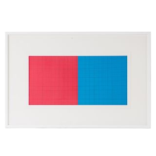 """Sol LeWitt. """"Grids and Color-Plate #17"""""""