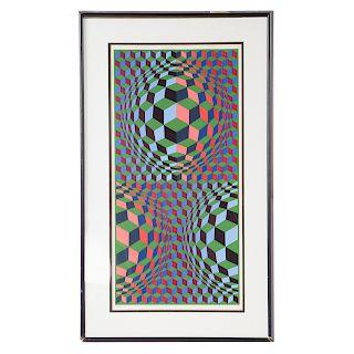 Victor Vasarely. Op Art Abstract