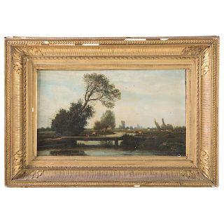 Louis Cabat. Landscape with Cattle