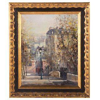 Lucien Delarue. View from Montmartre, Paris