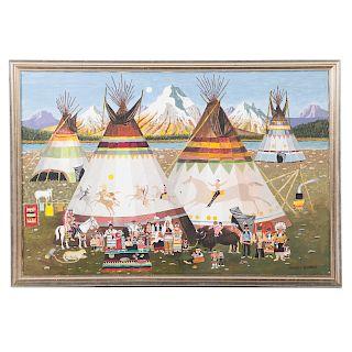 Charles Damrow. Indian Village