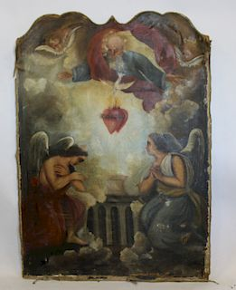 UNSIGNED. Old Master Style Religious Oil on Canvas
