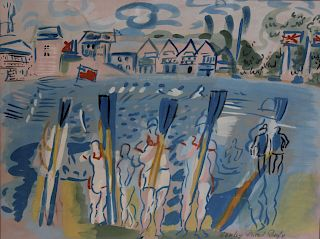 RAOUL DUFY. Pochoir of Rowing Club.