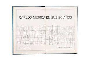 Torre, Mario de la (Editor).Carlos Mérida en sus 90 años. México: Talleres Litógraficos Unidos, 1981. 173 p. Con ilustraciones.