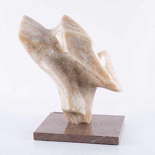 Martín Manzano. Sin título. Figura abstracta. Talla en ónix, con base de mármol, 8/8 Firmada.