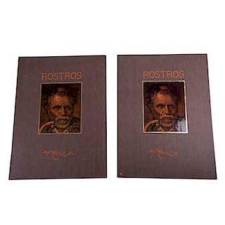 Manuel Muñoz Olivares. Rostros. 2 Carpetas. México. Treyma Ediciones. 1985. En carpeta, 12 impresiones.