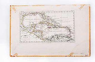Pietro, Marco di. Indie Occidentali. Milano: 1807. Mapa con límites coloreados, 20 x 33.5 cm.