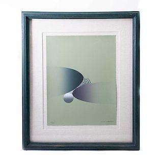 Kurt Larisch. Sin título. Serigrafía, 23/200 Firmada. Enmarcada. 43 x 33 cm