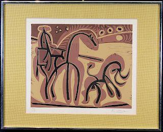 """Picasso """"Picador et Taureau"""" Linocut"""