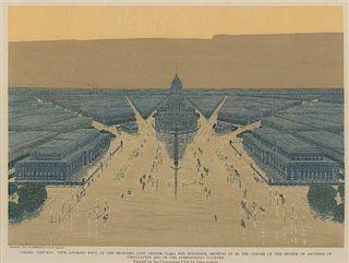 [ARCHITECTURE] -- BURNHAM, Daniel H. -- Edward H. BENNETT. Jules GUERIN, illustrator. [Plan of Chicago, 1909]. A group of 8 prin