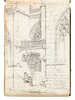 [ARCHITECTURE] -- SLATER, J. Atwood (fl 1883-1906). 2 sketchbooks, ca 1878-1880.