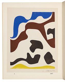 BLAINE, Nell , illustrator. -- KOCH, Kenneth. Nell Blaine Prints, Kenneth Koch Poems. New York: The Tibor de Nagy Gallery, 1953.