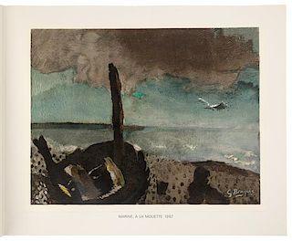 * [BRAQUE, Georges (1882-1963), illustrator] -- PRÈVERT, Jaques (1900-1977). Varengeville. Paris: Maeght Editeur, 1968.