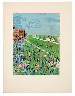 DUFY, Raoul (1877-1953), illustrator. -- LA VARENDE, Jean de (1887-1959). Les Centaures et les Jeux. Paris: Pierre de Tartas, 19