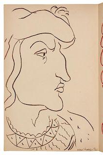 * MATISSE, Henri (1869-1954), illustrator. -- ORLEANS, Charles, Duc d' (1394-1465). Poemes. Paris: Tériade, 1950.