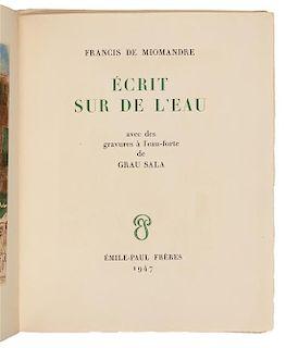 MIOMANDRE, Francis de (1880-1959). Écrit sur de L'eau. Paris: Émile-Paul Frères, 1947.