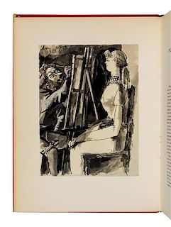 PICASSO, Pablo (1881-1973). Picasso and the Human Comedy. New York: Harcourt, Brace and Company, 1954.