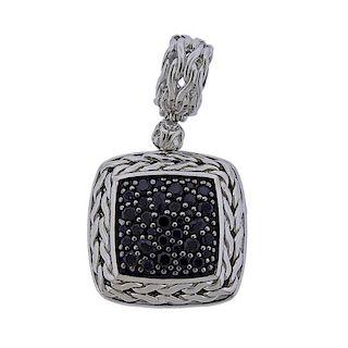 John Hardy Black Diamond Sterling Silver Pendant