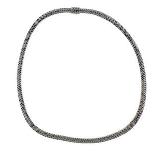 John Hardy Sterling Silver Woven Chain Necklace