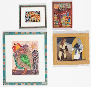 4 Works by Various Artists: Sarah Rakes, Hope Atkinson, Annie Lucas