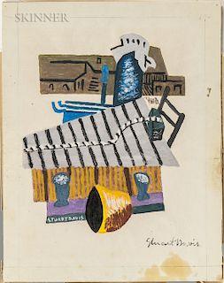 Stuart Davis (American, 1892-1964)  Marine Scene/Docks, Gloucester, Massachusetts