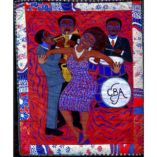 FAITH RINGGOLD Massive painting