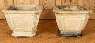 PAIR SIGNED GALLOWAY TERRACOTTA URNS