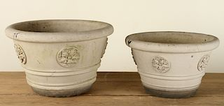 PAIR SIGNED GALLOWAY TERRACOTTA PLANTERS 1930