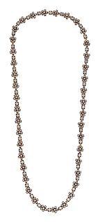 A Silver Topped 18 Karat Yellow Gold and Diamond Convertible Necklace/Bracelet, Morelle Davidson,