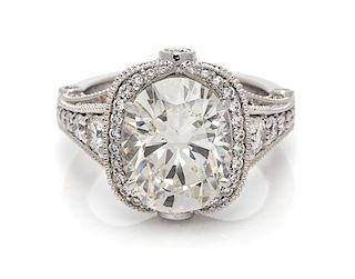 A Platinum and Diamond Ring, 8.70 dwts.