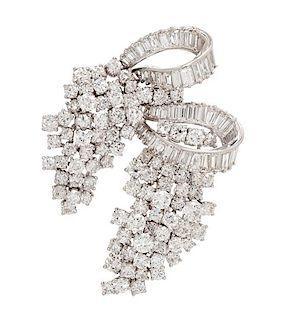 A Platinum and Diamond Brooch, 23.40 dwts.