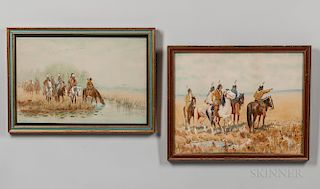 Pair of Charles Craig Paintings Depicting Native Americans