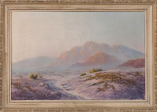 Two Western Oil on Canvas Landscape Paintings