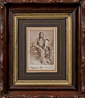 Cabinet Card Photograph of a Comanche Warrior