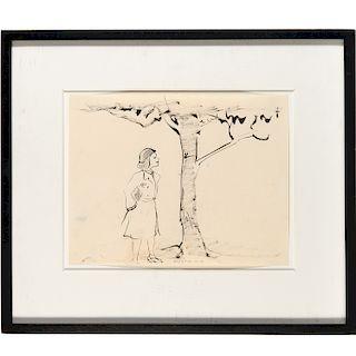 William Wegman, drawing, c. 1973